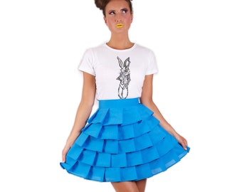 Wonderland layered 'Alice Ruffle Skirt' - Blue
