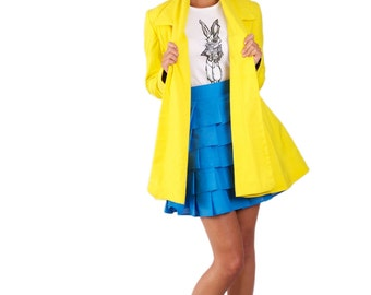 Wonderland Collared 'Mad Hatter Swing Coat' *Limited Edition - Yellow