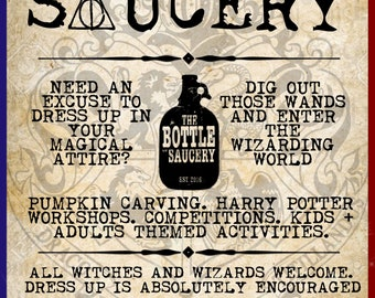 Harry Potter Hogwarts Workshop - Bottle Of Sauce - Cheltenham - 28th October