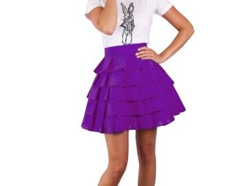 Wonderland layered 'Alice Ruffle Skirt' - Purple