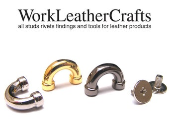 Clasps Hook Ring  High Quality 4pcs 11mm ZINC SCREW BACK D-ring Purse Hardware Finding for Purse Ring