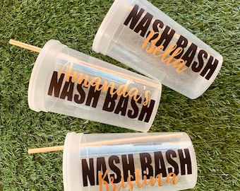 Bachelorette Nashville Party Cups - Personalized Party Cups for Nash Party - Customized Party Favors - Custom Stadium Cups - New Orleans