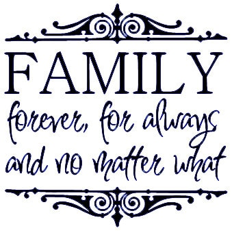 family forever for always and no matter what vinyl wall etsy