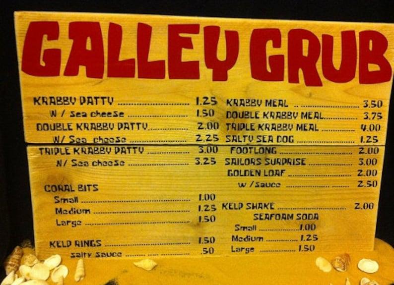 Spongebob Squarepants Krusty Krab Menu Board - real custom menu prop