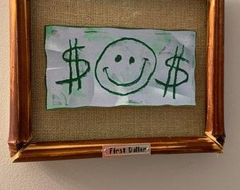 Spongebob Squarepants Mr. Krabs First Dollar frame with two dollars