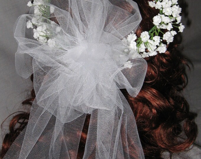 New Custom Baby's Breath Halo, White Baby's Breath Halo, White Flower Girl Headpiece, Floral Halo