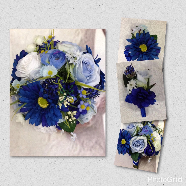New custom lizzy royal blue silk bridal bouquet blue bridal bouquet new custom lizzy royal blue silk bridal bouquet blue bridal bouquet blue wedding flowers izmirmasajfo