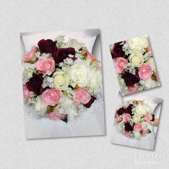 New Artificial White Wine And Blush Wedding Bouquet 9 Etsy
