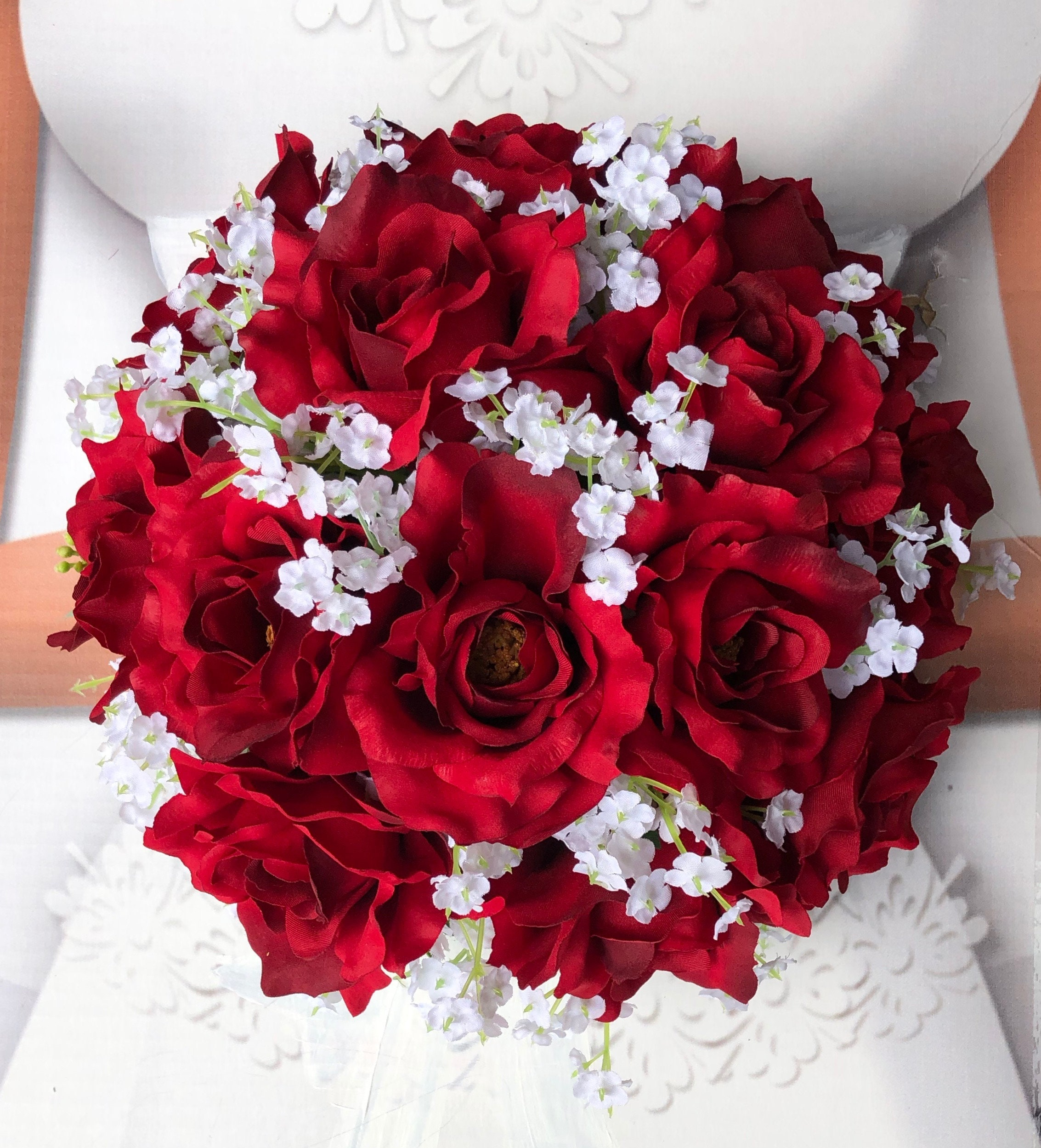 Red Roses Wedding Bouquets.New Artificial Apple Red Wedding Bouquet Flowers Baby S Breath And Apple Bridal Bouquet