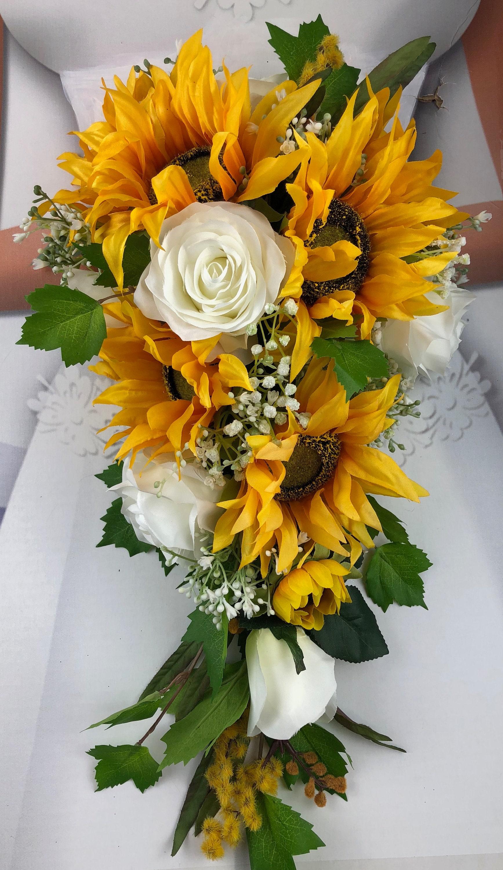 Artificial Sunflower Bridal Bouquet Sunflower Bridal ...