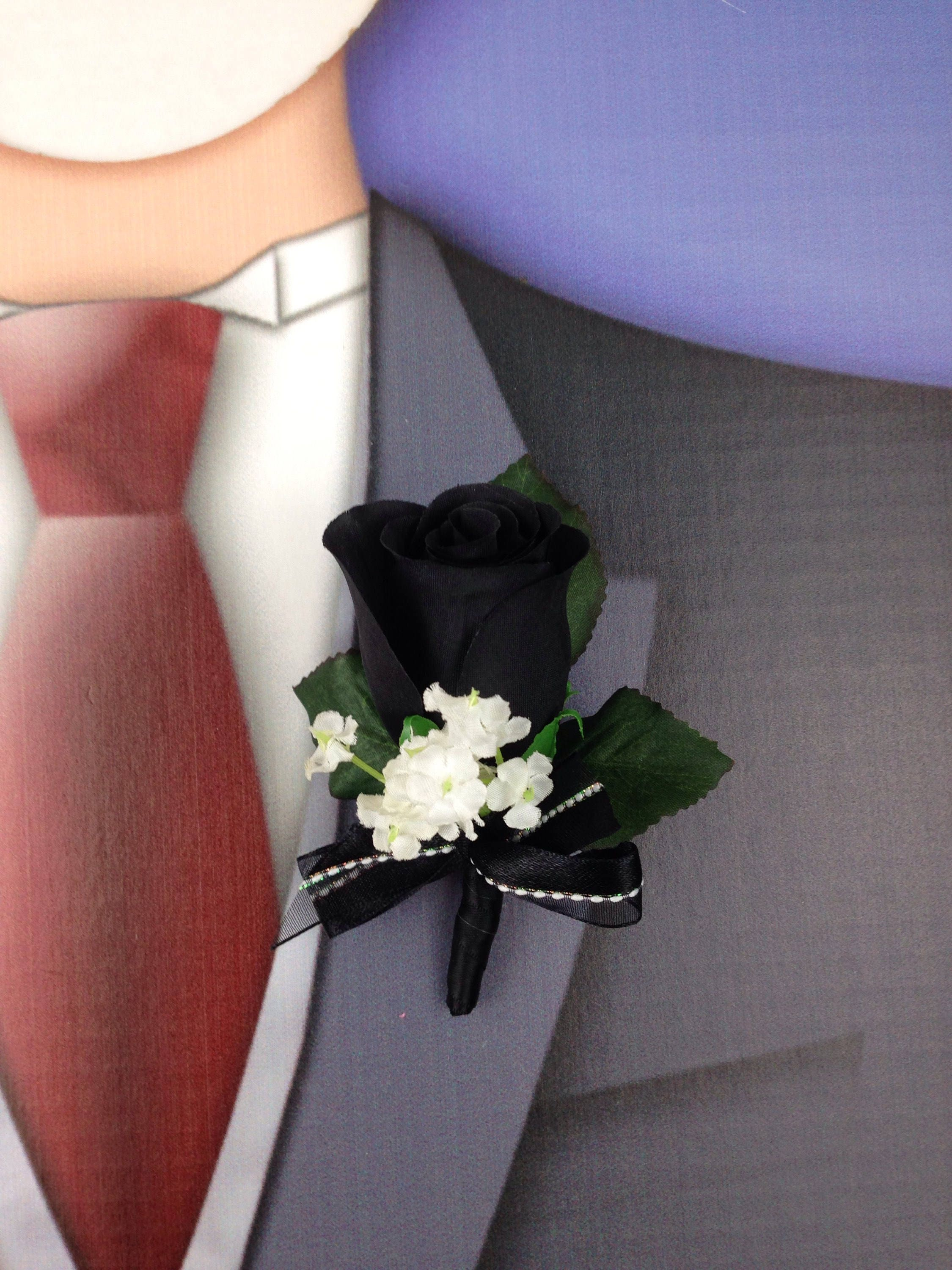 New Artificial Black Rose Corsage Black Rose Mothers Corsage