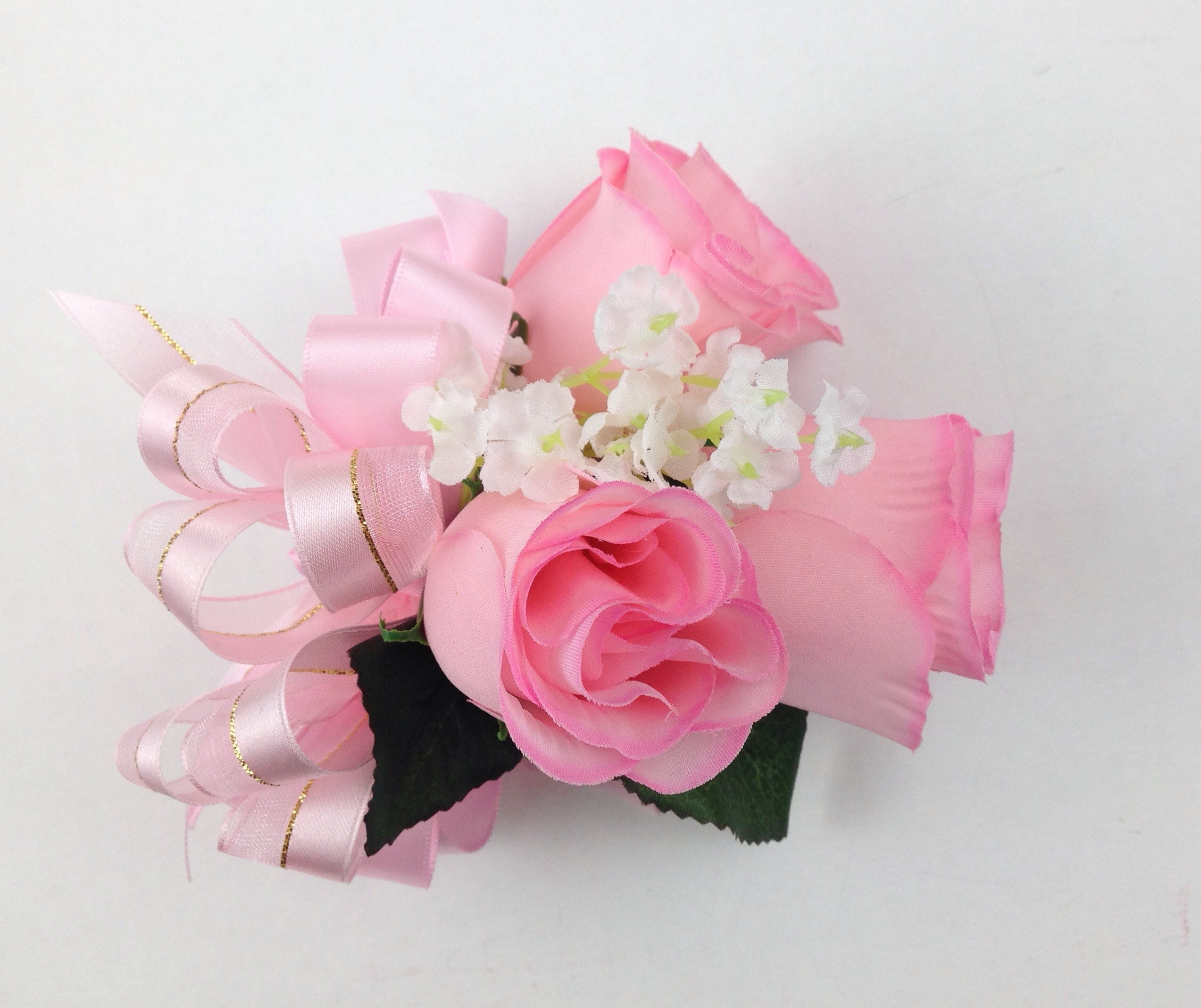New Artificial Pink Rose Corsage, Pink Rose Mother\'s Corsage, Pink ...