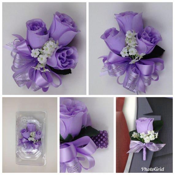 Neue Kunstliche Lavendel Rose Corsage Lavendel Rose Mutter Corsage Lavendel Corsage Lavendel Hochzeitsblumen