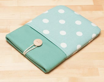 ipad mini case / ipad mini cover / ipad mini sleeve - Dots in sage