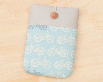 ipad mini cover / ipad mini case / ipad mini sleeve  - bicycles in grey -