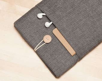 ipad mini sleeve / iPad mini case / ipad mini cover / iPad mini 2 3 4 case - Flannel grey