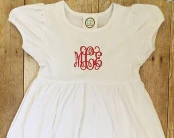 Monogrammed Girl's Dress