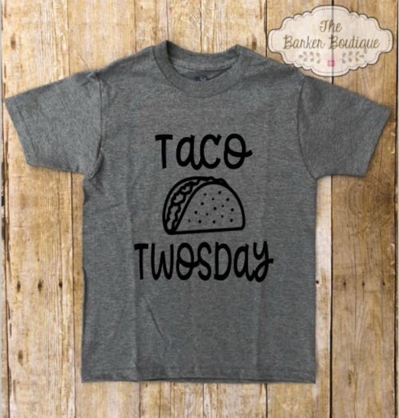 Taco TWOsday Birthday Shirt Party Theme 2 Year Old