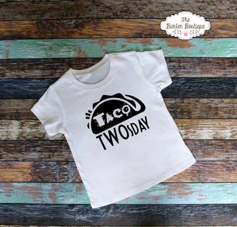 Taco TWOsday Birthday Shirt Party Theme 2 Year Old Birthday