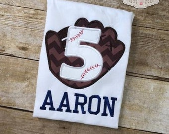 Baseball Birthday Number Shirt Baseball Glove Batting Cages Party Little League Party