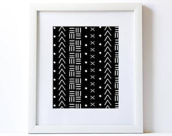 Mudcloth Printable Art Print - Make & Do Parties