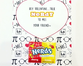 Talk NERDY To Me Valentines Printable Cards   INSTANT DOWNLOAD