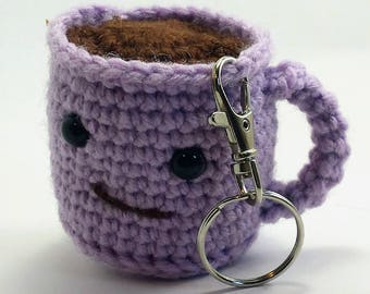 Set Of 2 Coffee Cup Amigurumi Crochet Gift Ready To Ship Etsy