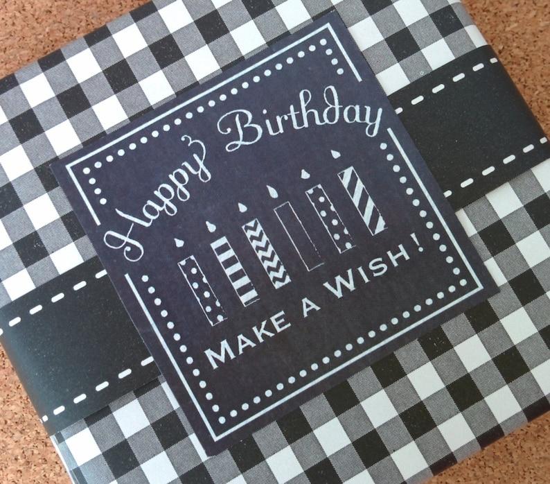 Chalkboard Style Birthday Labels image 0