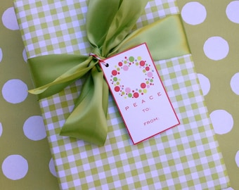 Green Gingham Premium Wrapping Paper