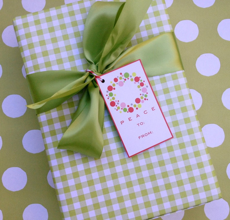 Green Gingham Premium Wrapping Paper image 0