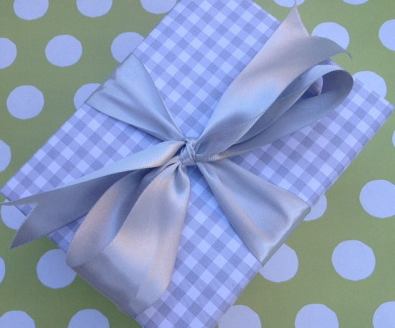 Grey Gingham Premium Wrapping Paper image 0