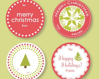 Variety Christmas Labels
