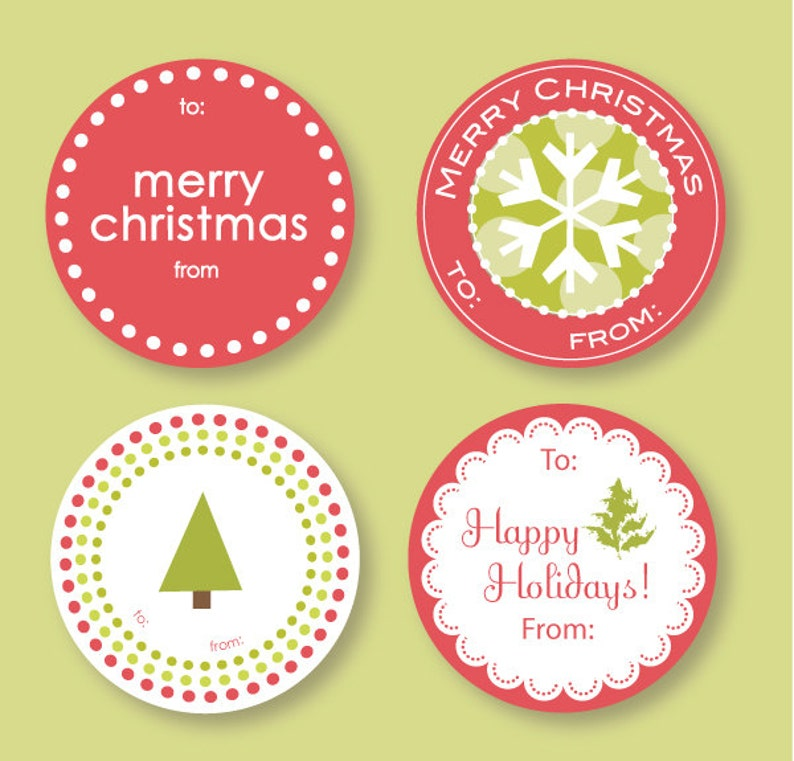 Variety Christmas Labels image 0