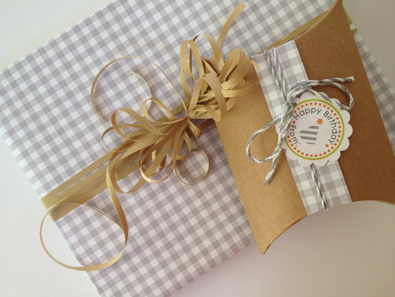 Narrow Grey Paper Ribbon in Pattern of Your Choice image 0