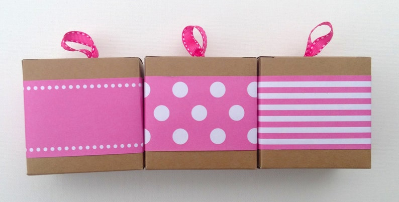 New Hot Pink Paper Ribbon in Pattern of Your Choice image 0
