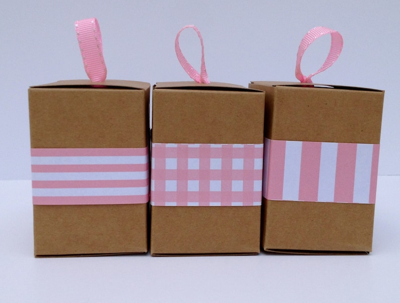 Narrow Pink Paper Ribbon in Pattern of Your Choice image 0
