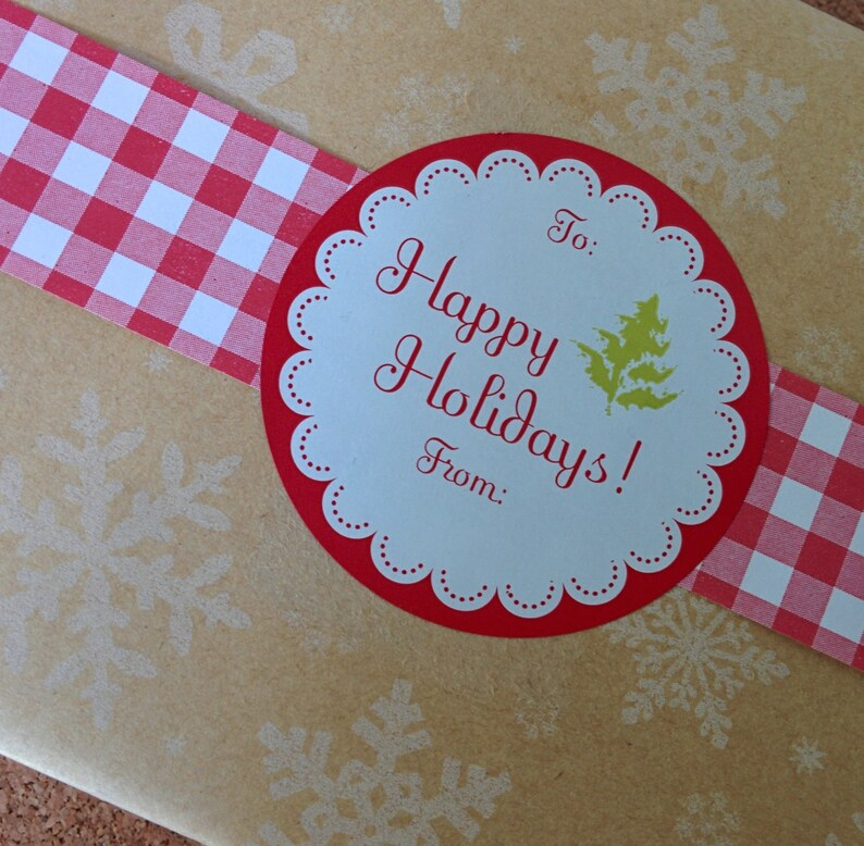 Happy Holidays Labels image 0