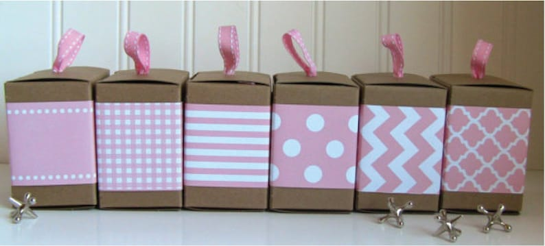Pink Paper Ribbon in Pattern of Your Choice image 0