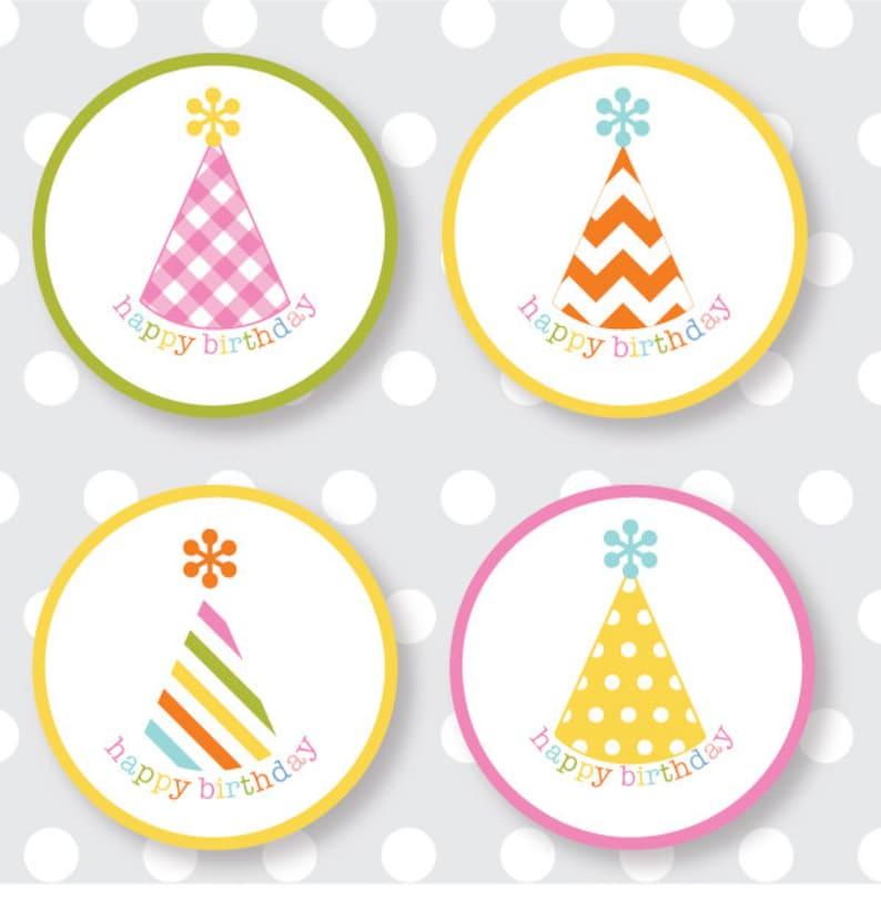 Happy Birthday Labels multicolor image 0