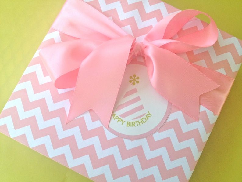 Pink Chevron Premium Wrapping Paper image 0