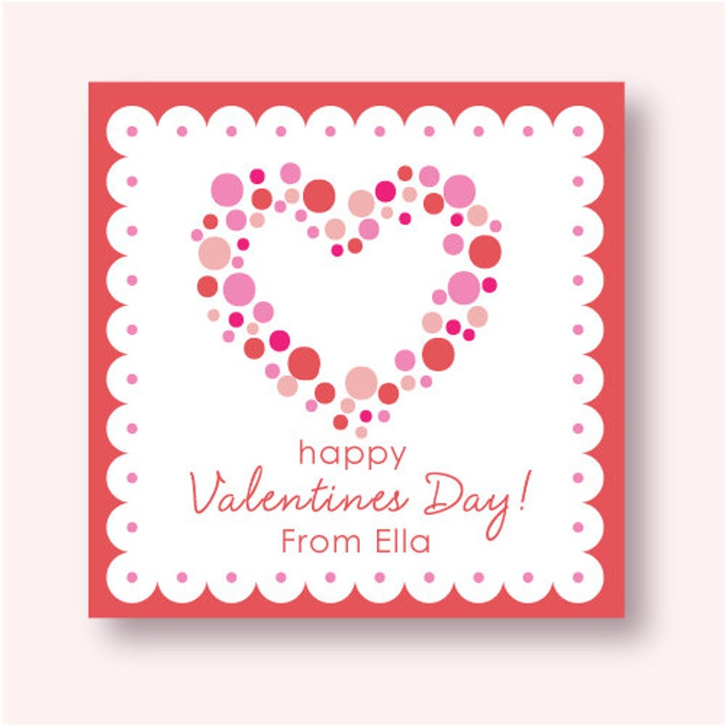 Customized Polka Dot Heart Labels image 0