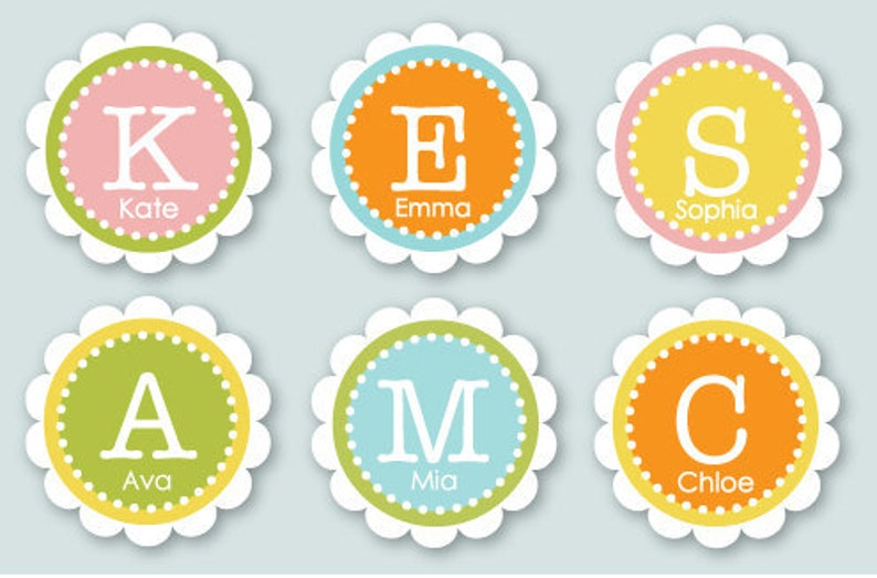 2 Inch Custom Labels You Choose Colors and Text image 0