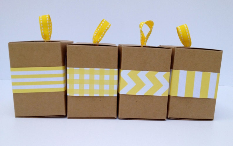 Narrow Yellow Paper Ribbon in Pattern of Your Choice image 0