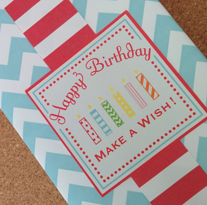 Make a Wish Birthday Labels image 0