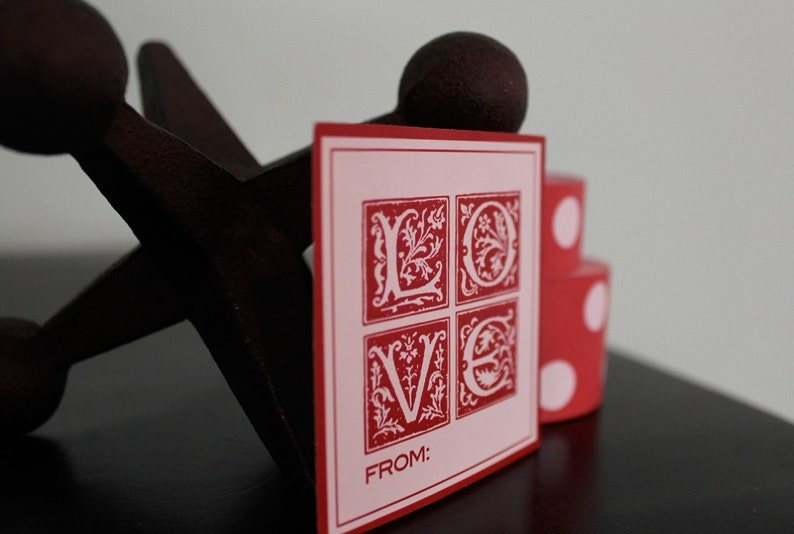 LOVE labels for Valentines image 0