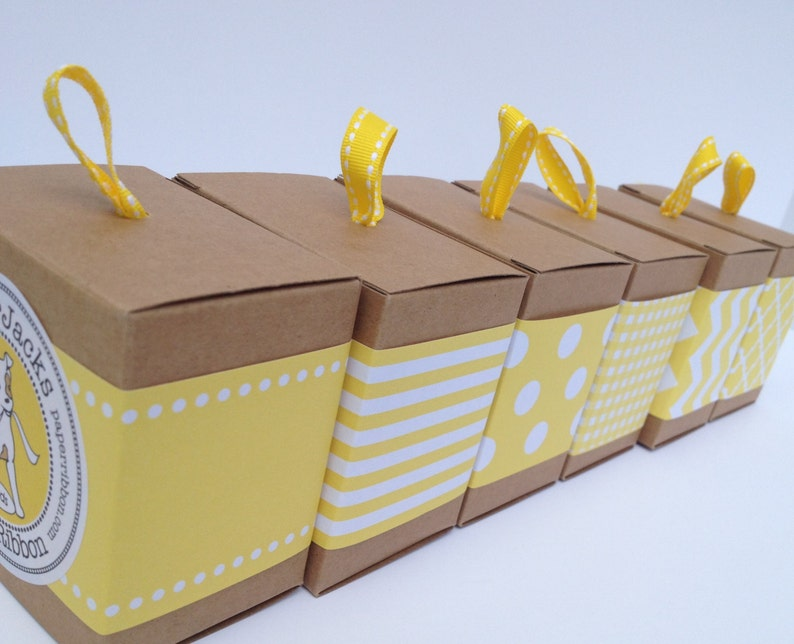 Yellow Paper Ribbon in your choice of Pattern image 0