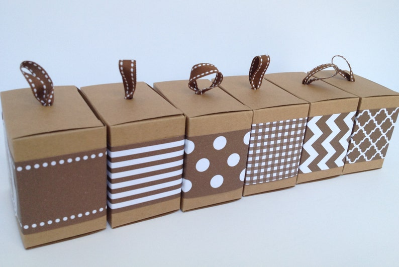 Brown Paper Ribbon in Pattern of Your Choice image 0