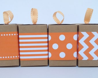 Orange Paper Ribbon in Pattern of Your Choice