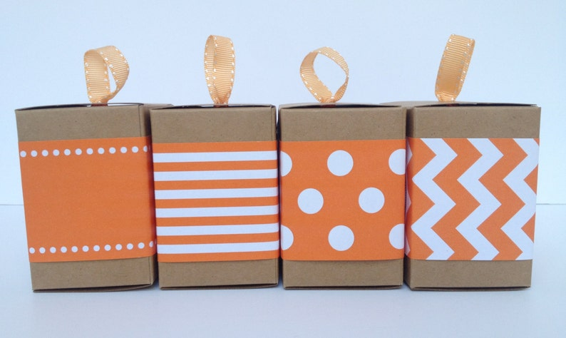 Orange Paper Ribbon in Pattern of Your Choice image 0