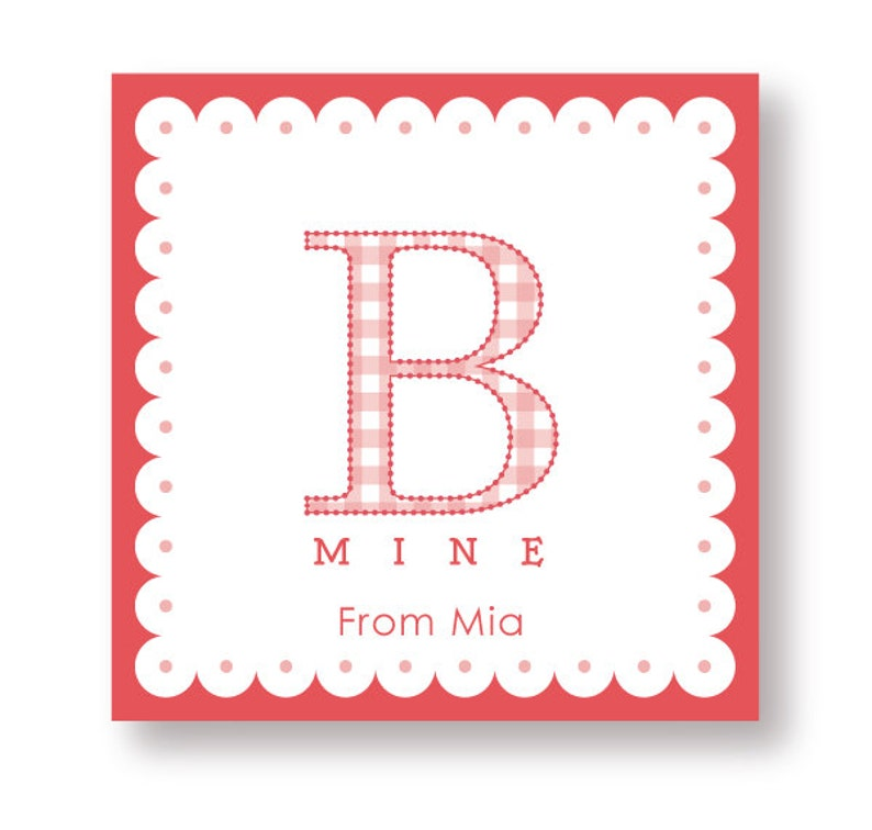 Customized B Mine Labels image 0